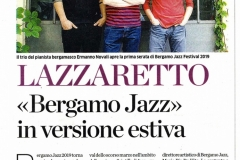 16/06/2019 Eco di Bergamo - Bergamo Jazz Summer Edition